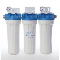 Фильтр умягчения CACF 3B с тремя картриджами