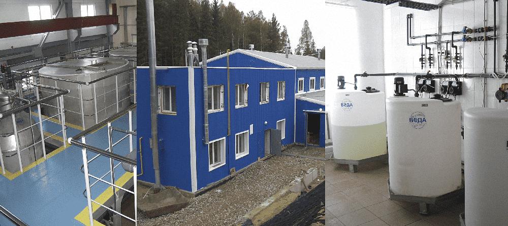 Здание очистительной станции