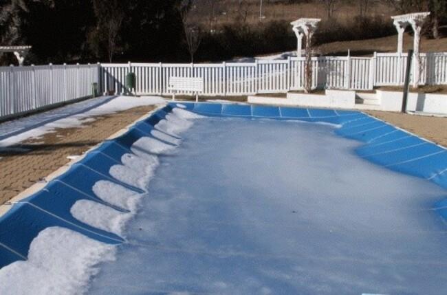 как подготовить бассейн к зиме на даче