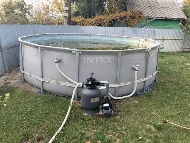 консервация бассейна на зиму инструкция видео