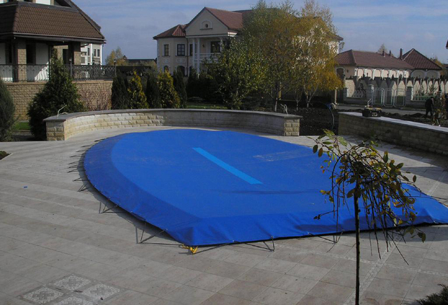 как закрыть бассейн зимой