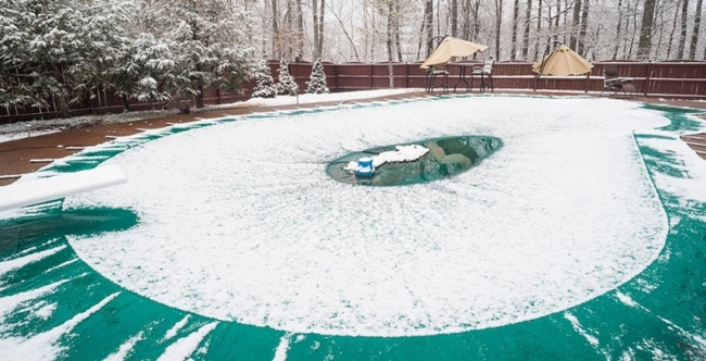 консервация бетонного бассейна на зиму