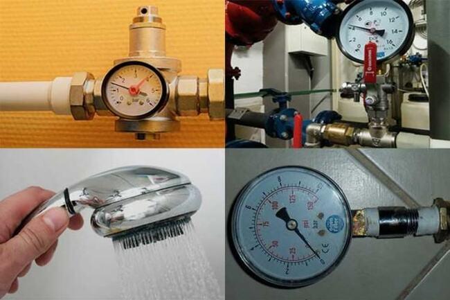уровень давления воды в системе водоснабжения