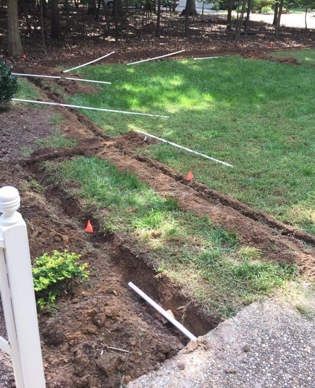 как копать траншею под водопровод
