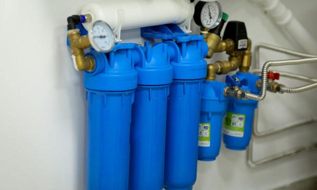 как установить водяной фильтр