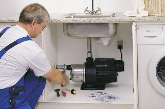 насос повышающий давление в системе водоснабжения