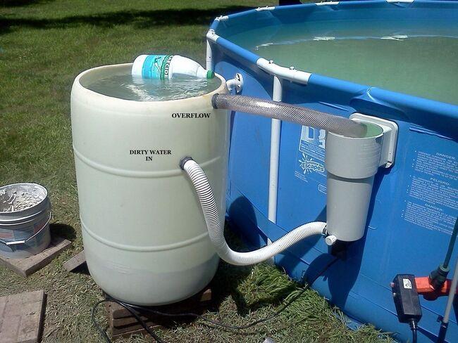 установка песочного фильтра для бассейна