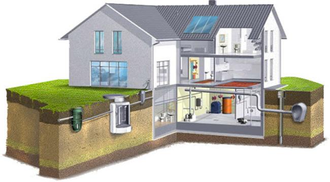 чертеж водопровода в частном доме