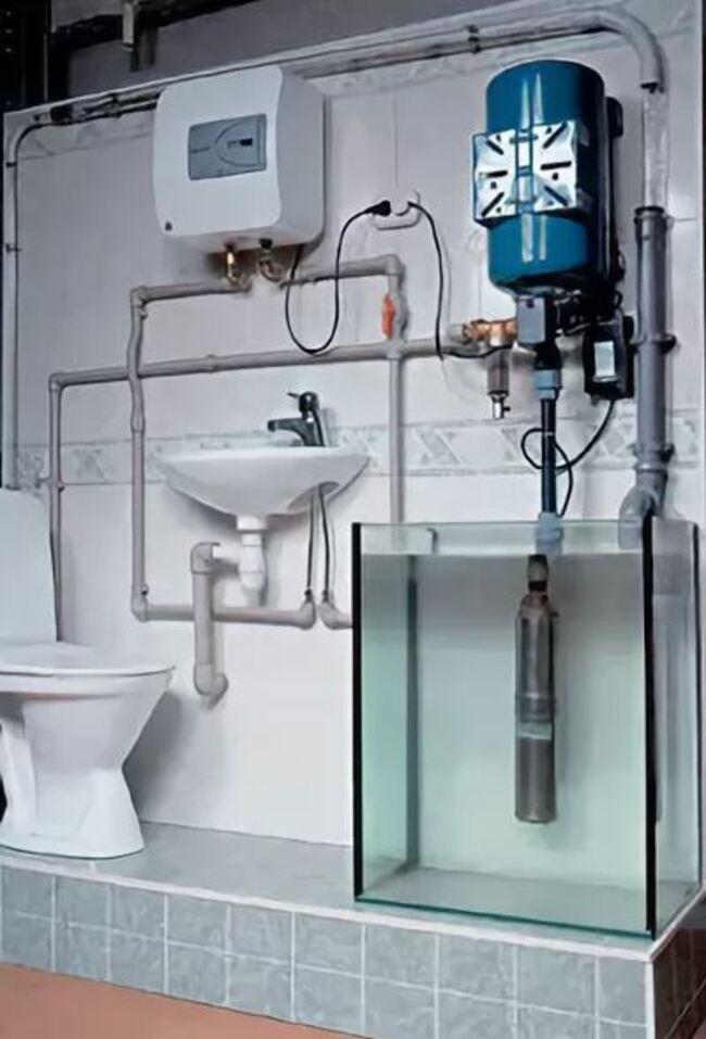 схема водоснабжения жилого дома