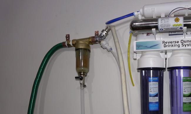 замена фильтра счетчика воды